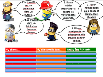 Jobs, avoir + être - Expo 2 Module 1 - Differentiated lesson with homework