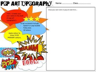 POP ART Typography (Design your name)
