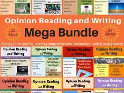 Opinion Reading and Writing MEGA BUNDLE