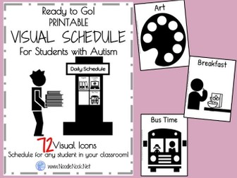 Visual Schedule for Students with Autism- Printable and Ready to Go!