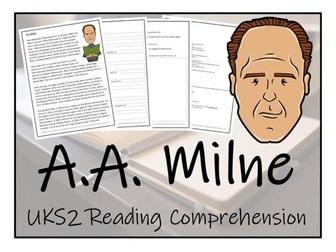 UKS2 History - A.A. Milne Reading Comprehension Activity