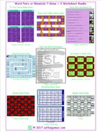 Word Pairs or Binomials 7 Game Plus 2 Worksheet Bundle