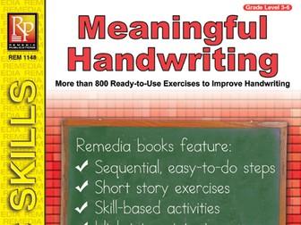 Meaningful Handwriting