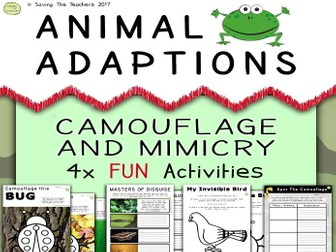 Animal Adaptions: Camouflage and Mimicry Activities