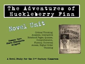 The Adventures of Huckleberry Finn Novel Unit