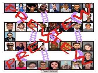 Celebrities Acting Irresponsibly Chutes and Ladders Board Game