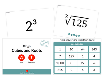 Cubes and Roots (Bingo)