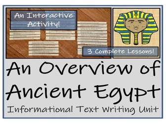 UKS2 History - Ancient Egypt Informational Text Writing Unit