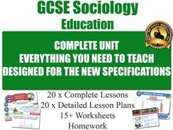 EDUCATION (20 Lessons) [ GCSE Sociology ]