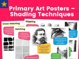 Primary Art Posters – Shading Techniques