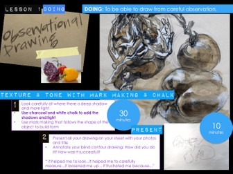 KS4 - An introduction into GCSE and practicing Observational Drawing in the context of Natural Forms