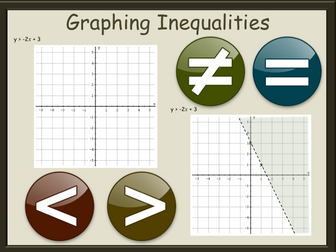 Graphing Inequalities Worksheets GCSE - with answers