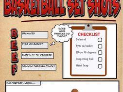 Basketball Set Shot Worksheet