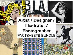 Artist / Designer / Photographer / Illustrator FACTSHEETS BUNDLE