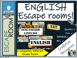 End of Term English Escape Rooms
