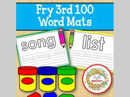 Sight Word Mats:  Fry 3rd 100 Word Mats – Color