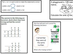 Year 5 Long multiplication fluency, reasoning and application