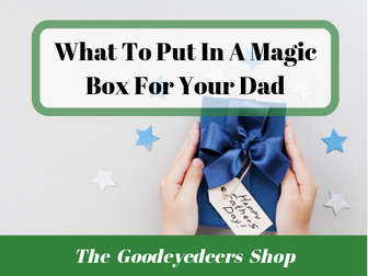 Father's Day Poetry Ideas - The Magic Box