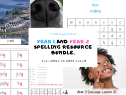 Bundle: Year 1 and  2 Spelling Resources and Spellijng Disgnostic Tests