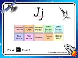 The letter 'j' PowerPoint (Phase 3)