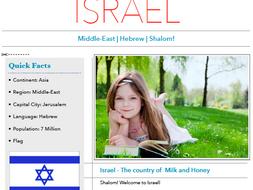 Discover Israel - Printable Worksheet