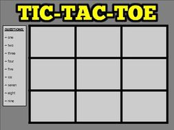 Tic Tac Toe Review (Google Slides Game Template)