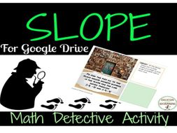 Slope Math Detective Digital Activity for Google Drive