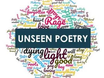 EDUQAS WJEC Unseen Poetry Scheme of Work