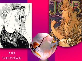 Art Nouveau ~ Art History ~ Art ~ Organic Shape ~ 172 Slides