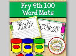 Sight Word Mats:  Fry 4th 100 Word Mats – Color