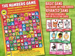 The NUMBERS GAME (ADVANCED version) uses SQUARE,PRIME, TRAIANGE numbers+ much more