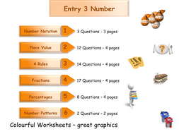 Numbers Workbook - Worksheet Booklet - Functional Skills E3