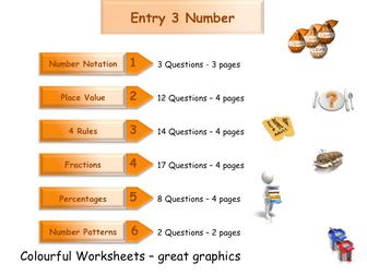 Numbers Workbook - Worksheet Booklet - Functional Skills E3