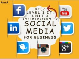 Level 3 IT, Unit 3 Intro to Social Media for Business