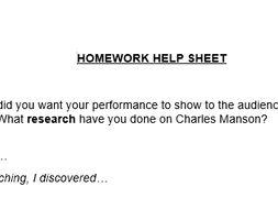Drama coursework help