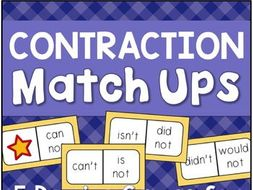 Contractions Match-Up Activities