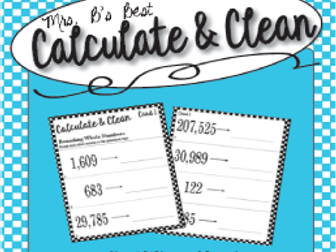 Calculate & Clean: Rounding to the Nearest Whole Number