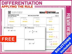 IGCSE Revision (Differentiation of Polynomials)