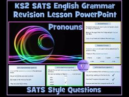 Pronouns: English SATS Revision