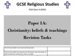 Christianity & Islam revision activities bundle for AQA GCSE Religious Studies Paper 1