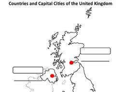 Map Of The Uk Cities.Uk Countries And Capital Cities Map Template By Mandjmorris