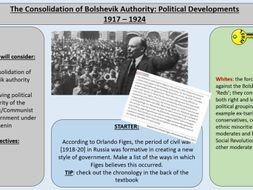 3.The Consolidation of Bolshevik Authority - AQA A-Level 1H Tsarist and Communist Russia 1855-1964