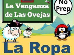 La Venganza de Las Ovejas. PowerPoint Games to Learn Spanish Vocabulary for LA ROPA.   Juegos