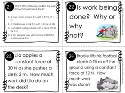 Calculating Work Task Cards