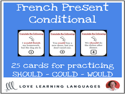 French Present Conditional Lesson - Should, Could, Would