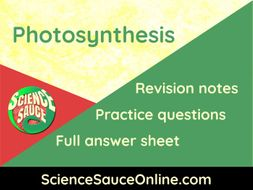 Photosynthesis - Revision handout and practice questions