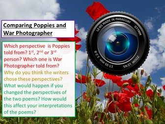 Power and Conflict - Comparing War Photographer and Poppies