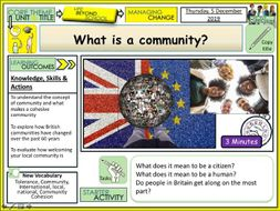 What is a community  PSHE