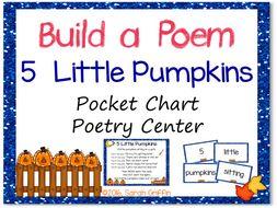 Build a Poem: 5 Little Pumpkins - Pocket Chart Center
