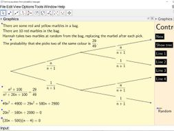 Forming quadratic equations from probability trees (as seen in ...
